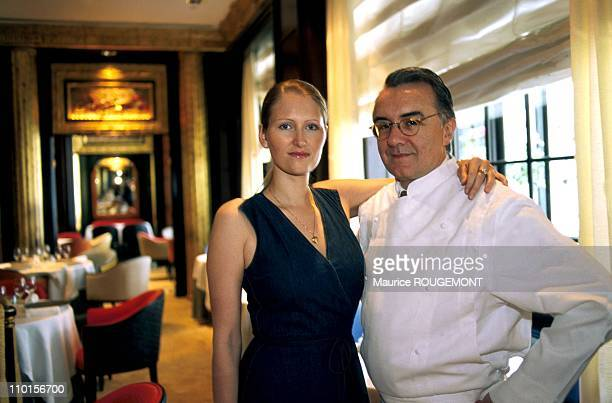 A Ducasse opens restaurant in New York United States in June 2000 With his girlfriend Gwenaelle Gueguen