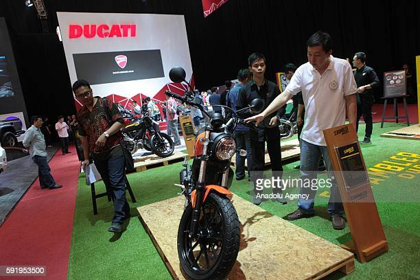 Ducati Scrambler is seen at the Indonesia International Auto Show in Tangerang near Jakarta Indonesia August 19 2016