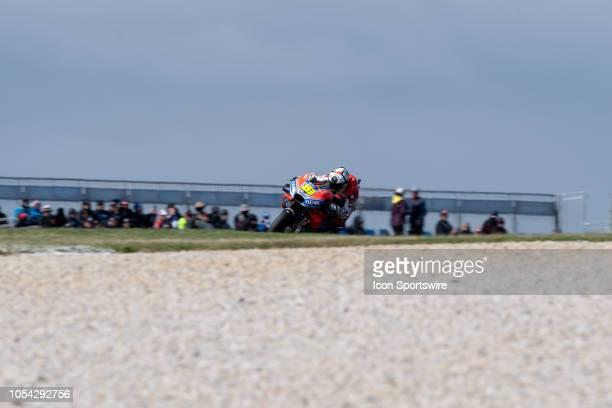 Ducati Team rider Alvaro Bautista in qualifying during The 2018 Australian MotoGP at The Phillip Island Circuit in Victoria Australia on October 27...