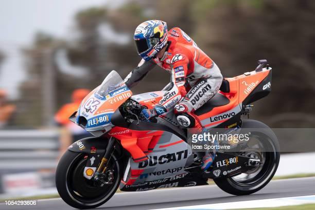 Ducati Team rider Andrea Dovizioso in qualifying during The 2018 Australian MotoGP at The Phillip Island Circuit in Victoria Australia on October 27...