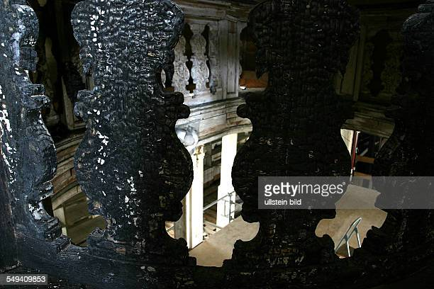 Duchess Anna Amalia Library drying of the rococo hall after the fire of September 2004