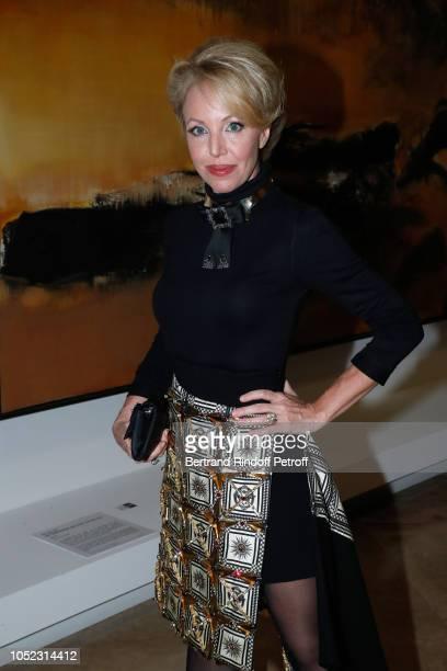 Duchess Camilla of Castro attends the 'Societe des Amis du Musee d'Art Moderne' Dinner Held at Musee d'Art Moderne de la Ville de Paris on October 16...