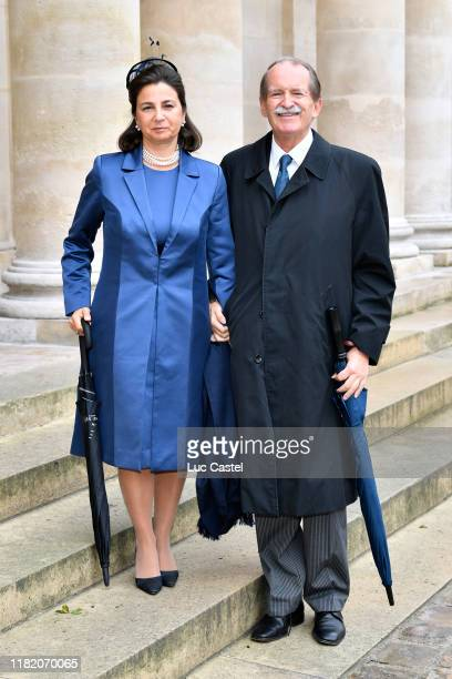 Duchess Dona Isabel de Bragance and Duke Dom Duarte de Bragance attend the Wedding of Prince Jean-Christophe Napoleon and Olympia Von Arco-Zinneberg...