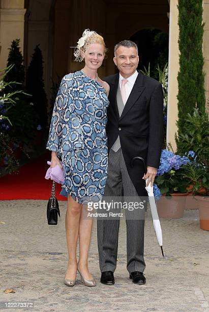 Duchess Elisabeth in Bayern and her husband Daniel Terberger attend the religious wedding ceremony of Georg Friedrich Ferdinand Prince of Prussia to...