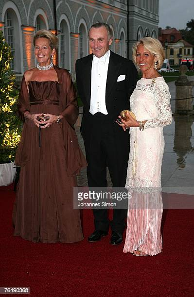 Duchess ElisabethChristina in Bayern her husband Duke Max in Bayern and her sister Duchess of Marlborough arrive for the bridal soiree at the Castle...