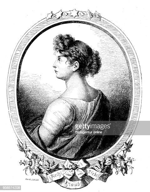 Duchess Louise of MecklenburgStrelitz Luise Auguste Wilhelmine Amalie 10 March 1776 19 July 1810 reproduction of a woodcut from the year 1880 digital...