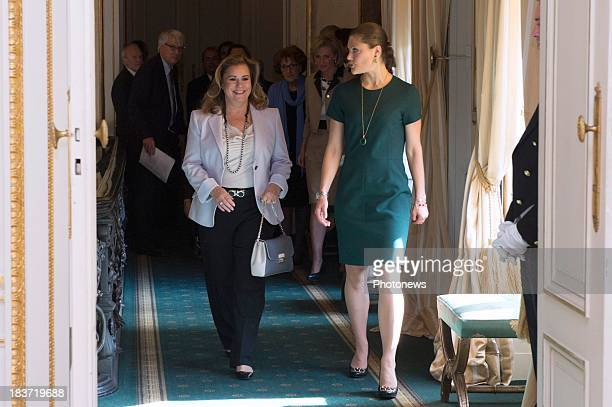 Duchess Maria Teresa of Luxembourg and Princess Victoria of Sweden attend the fourth meeting of Honorary Board of the International Paralympic...