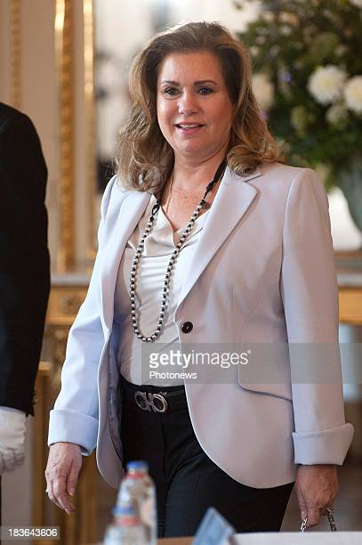 Duchess Maria Teresa of Luxembourg attends the fourth meeting of Honorary Board of the International Paralympic Commitee hosted by Princess Astrid of...