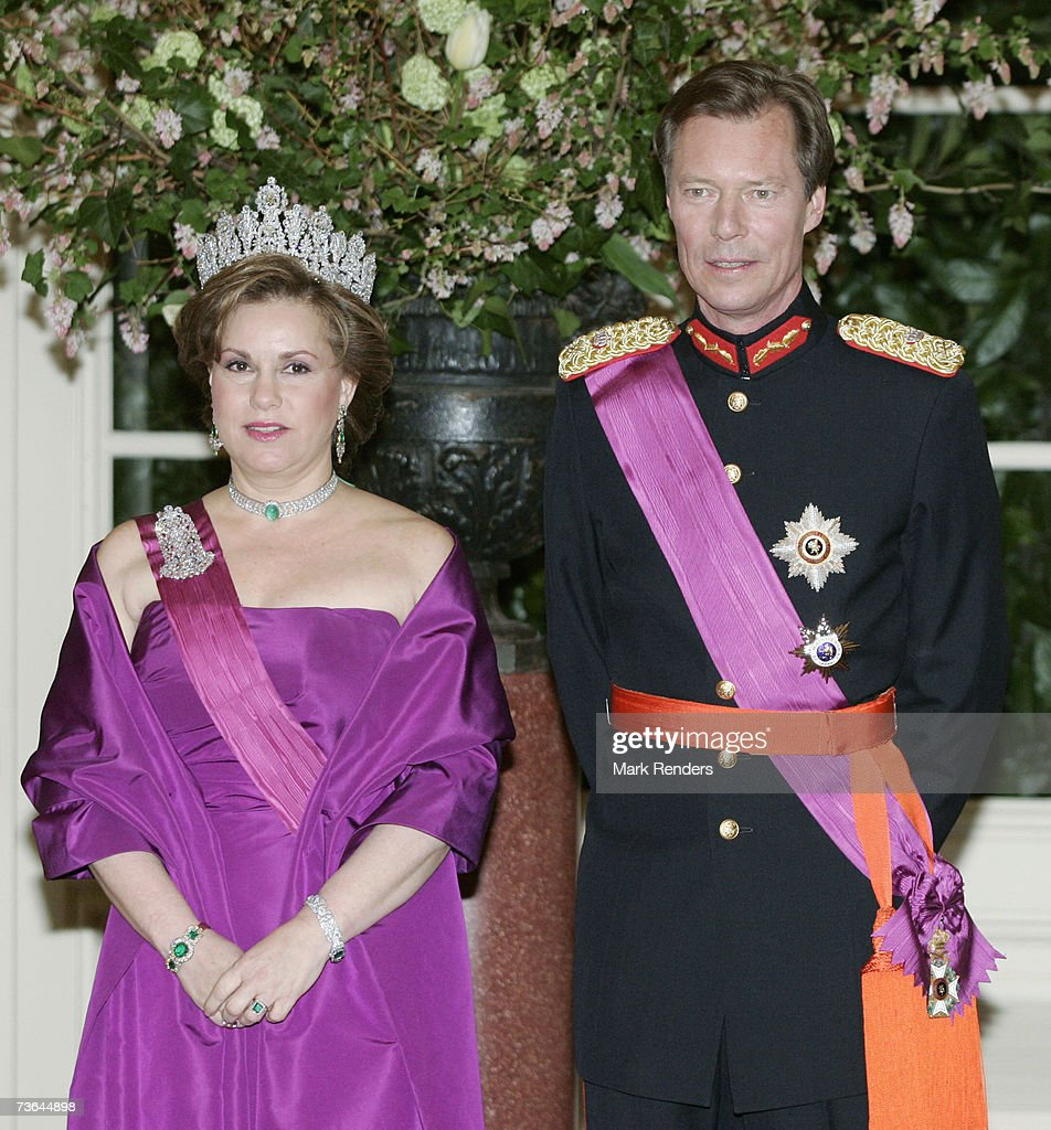 Duchess Maria Theresa, the Grand Duke Henri of Luxemburg pose for a photo at Laeken Castle on March 20 , 2007 in Brussels, Belgium. The Grand Duke From Luxembourg and his wife Maria Theresa are in Belgium for a three day during State Visit.