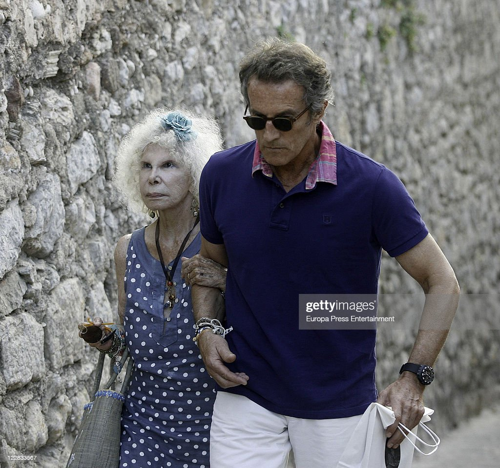 Duchess of Alba and Alfonso Diez Sighting In Ibiza - August 28, 2011