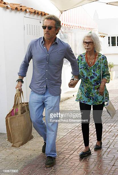 Duchess of Alba Cayetana FitzJames Stuart and Alfonso Diez are seen going for shopping on August 23 2012 in Ibiza Spain