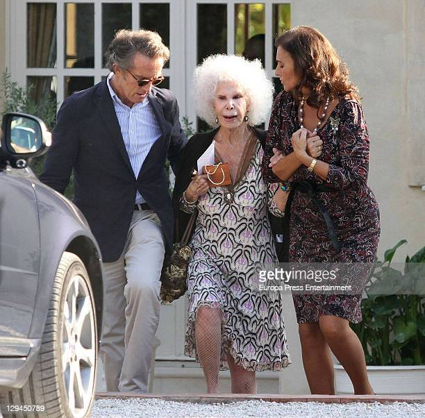 Duchess of Alba Cayetana FitzJames Stuart and Duke of Alba Alfonso Diez attend a lunch to celebrate Carmen Tello's birthday at Carmen Tello's house...