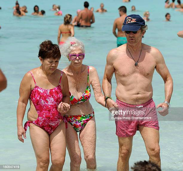Duchess of Alba Cayetana FitzJames Stuart and Duke of Alba Alfonso Diez are seen on August 20 2012 in Formentera Spain