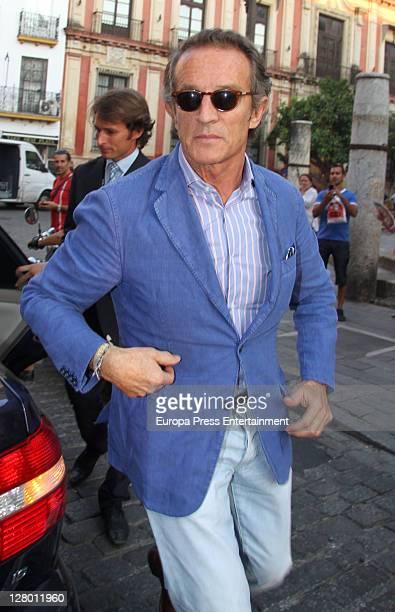 Duchess of Alba's boyfriend Alfonso Diez arrives at hotel on October 4 2011 in Seville Spain