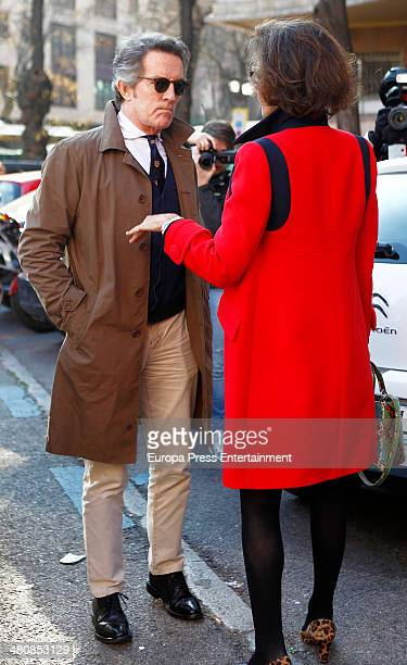 Duchess of Alba's husband Alfonso Diez and Nati Abascal are seen on March 13 2014 in Madrid Spain