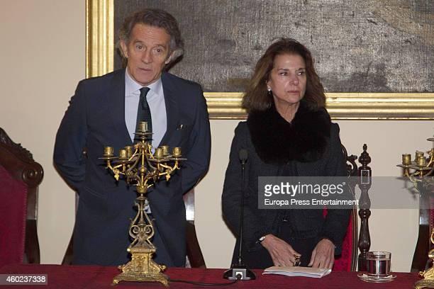 Duchess of Alba's widower Alfonso Diez attends the homage to Duchess of Alba hold by Real Academia de las Bellas Artes de Santa Isabel de Hungria on...