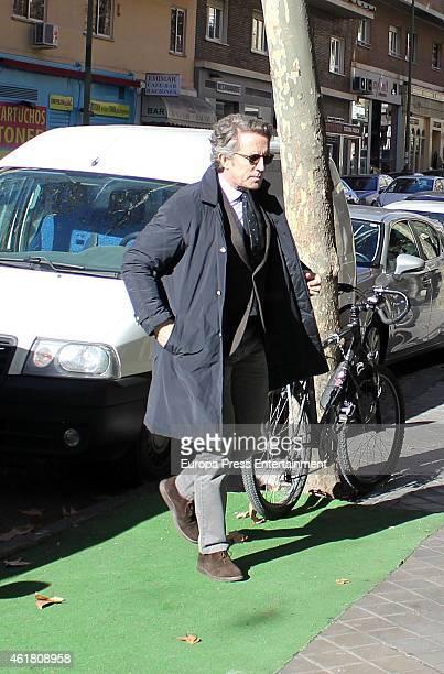 Duchess of Alba's widower Alfonso Diez is seen on January 19 2015 in Madrid Spain