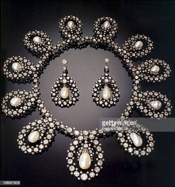 Duchess of Aosta's Tiara was turned into a necklace included is a pair of earrings in Italy in December 2002