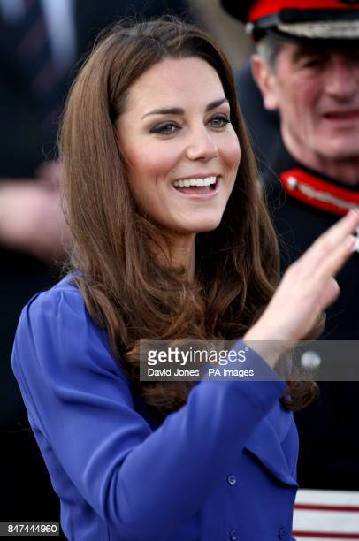 Duchess of Cambridge during her visit to the Treehouse part of the East Anglia's Children's Hospices in Ipswich