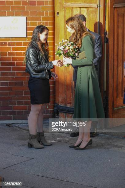 Duchess Of Cambridge seen arriving to the open Family Action Line Centre at Forest Hill Lewisham in London