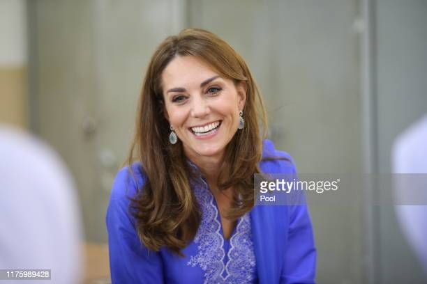Duchess of Cambridge visits a school on October 15, 2019 in Islamabad, Pakistan.