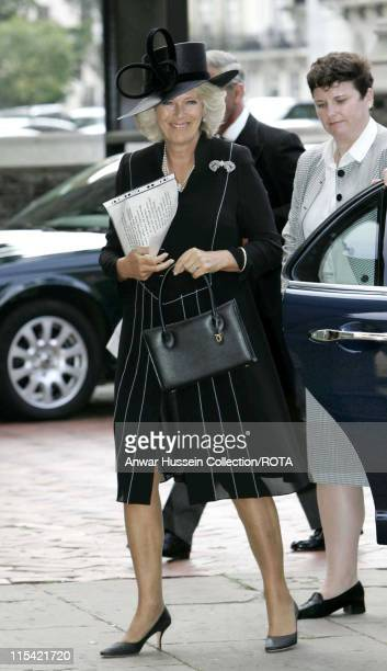 HRH Duchess of Cornwall arrives at St Paul's Church in Knightsbridge for a memorial service for her father Major Bruce Shand on September 11 2006