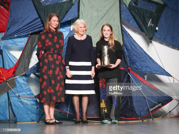 HRH Duchess of Cornwall Camilla presents Elizabeth II Award for young talents in fashion to the winner Bethany Williams during London Fashion Week...