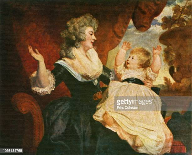 Duchess of Devonshire and Child', circa 1786, . Portrait of Georgiana Cavendish, Duchess of Devonshire and her daughter Lady Georgiana Cavendish ....