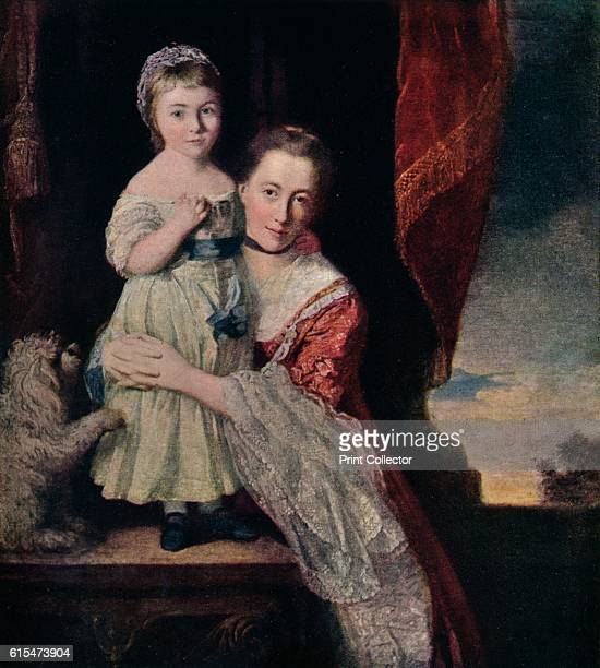 ''Duchess of Devonshire as a Child with Georgina, Countess of Spencer', 1760-61, . The Countess Margaret Georgiana Spencer was John Spencer's wife....