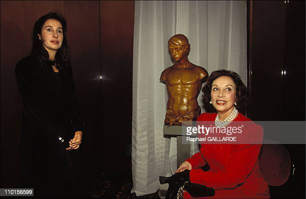 Duchess of Franco and daughter Carmen MartinezBordiu at the party Cercle Henry de Montherlant in Paris France on November 24 1993