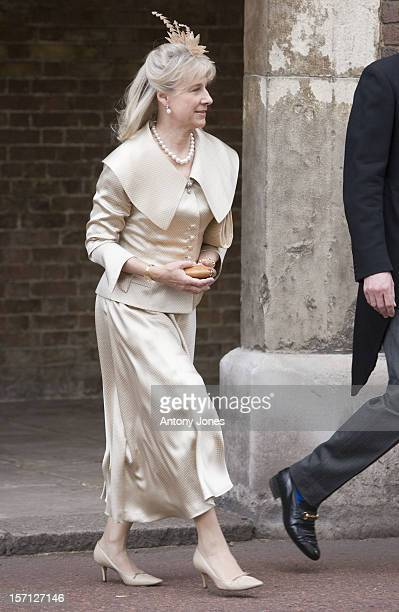 Duchess Of Gloucester Arrives At The Wedding Of Lady Rose Windsor Youngest Daughter Of The Duke Duchess Of Gloucester Who Marries George Gilman At...