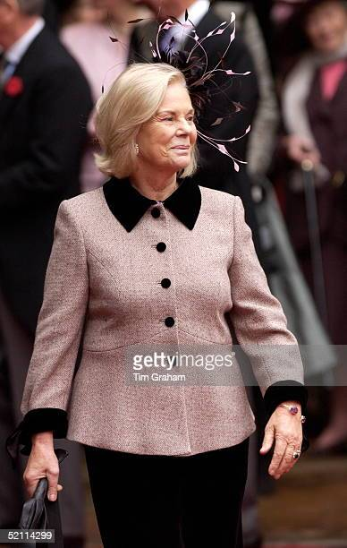 Duchess Of Kent At The Van Cutsem/grosvenor Wedding At Chester Cathedral