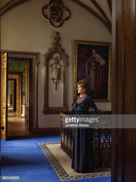 Duchess of Rutland Emma Manners is photographed for Vanity Fair Magazine on June 24 2016 in the upstairs gallery of Belvoir Castle in Leicestershire...