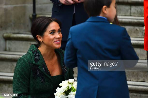 Duchess of Sussex attend a Commonwealth Day Youth Event at Canada House on March 11 2019 in London England The event will showcase and celebrate the...