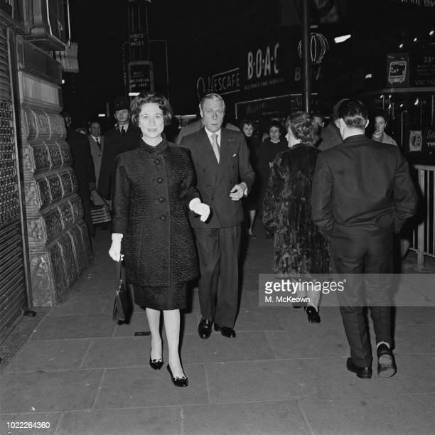 Duchess of Windsor Wallis Simpson with her husband Duke of Windsor Edward VIII walking in London UK 30th January 1964