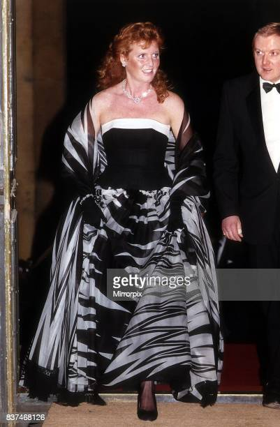 Duchess of York attends the Action Ball at Syon House with the duke of Northumberland