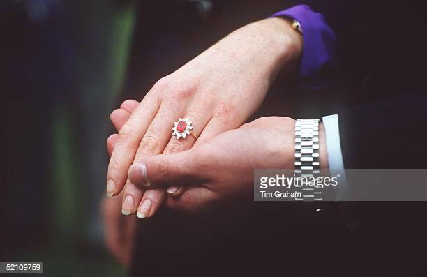 Duchess Of York Diamond And Ruby Engagement Ring