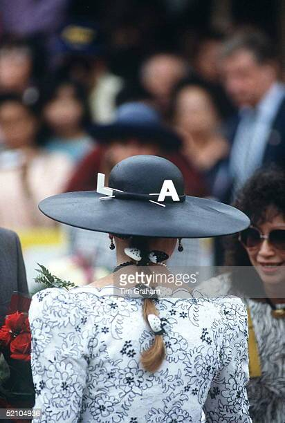 Duchess Of York In Los Angeles With La Letters On Her Hat