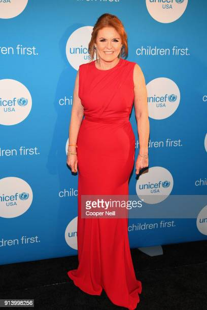 Duchess of York Sarah Ferguson at the UNICEF Gala at The RitzCarlton Dallas on February 3 2018 in Dallas Texas