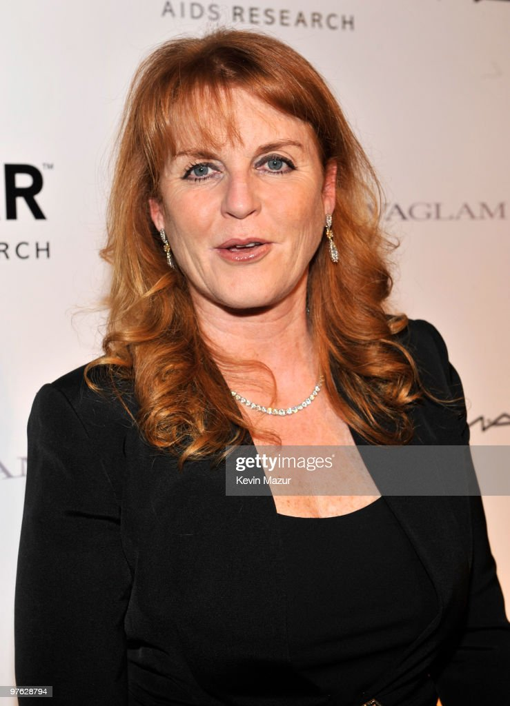 Duchess of York Sarah Ferguson attends the amfAR New York Gala co-sponsored by M.A.C Cosmetics at Cipriani 42nd Street on February 10, 2010 in New York City.