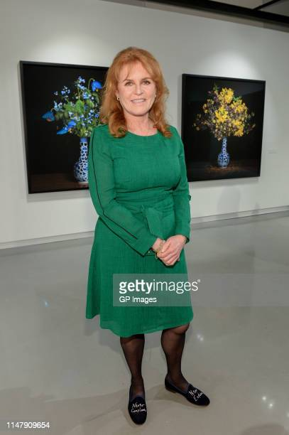 """Duchess of York, Sarah Ferguson attends the T.M. Glass Solo Exhibition """"The Audible Language Of Flowers"""" Opening at Onsite Gallery on May 08, 2019 in..."""