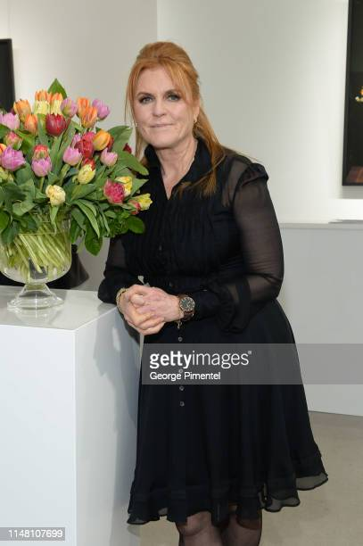 Duchess of York, Sarah Ferguson attends the T.M. Glass Solo Exhibition Opening at Galerie de Bellefeuille on May 09, 2019 in Toronto, Canada.