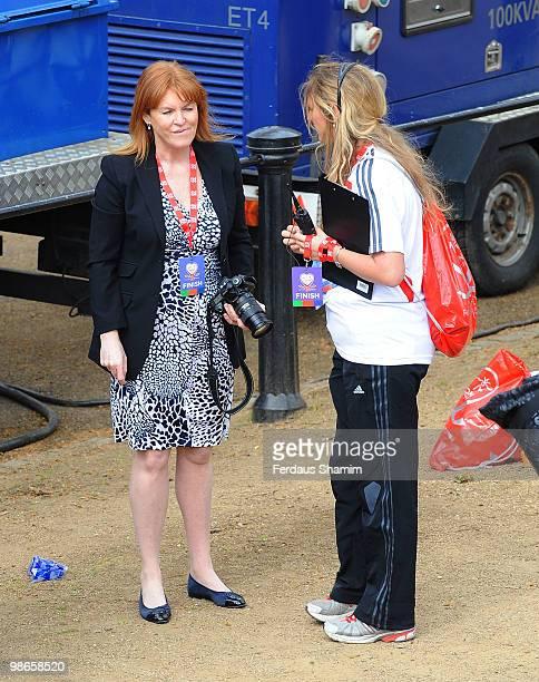 Duchess Of York Sarah Ferguson attends the Virgin London Marathon on April 25 2010 in London England