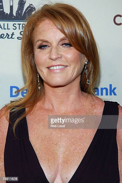 Duchess of York Sarah Ferguson poses at the Cipriani Wall Street Concert Series benefiting UNICEF the Sarah Ferguson Foundation at Cipriani Wall...