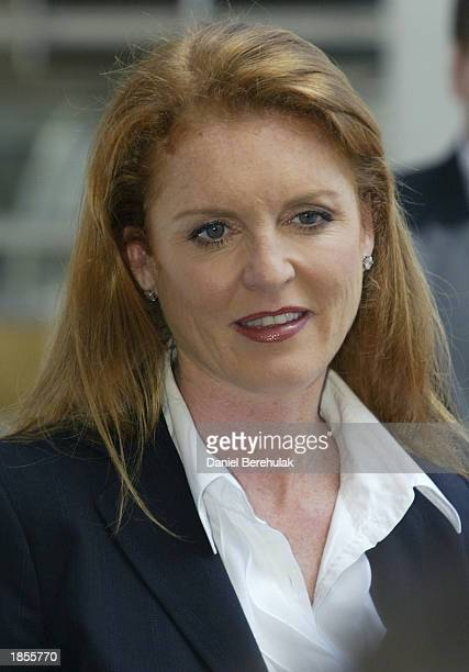 Duchess of York Sarah Ferguson poses for photographs before a Weight Watchers Super Meeting at Fox Studios on March 18 2003 in Sydney Australia