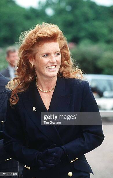 Duchess Of York Visiting Cumberland Lodge In Windsor