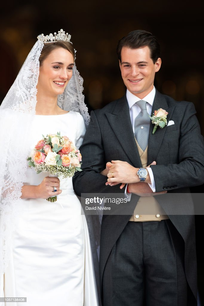 Wedding of Duchess Sophie Of Wurttemberg And Count Maximilian Of Andigne At Tegernsee Castle : Foto jornalística