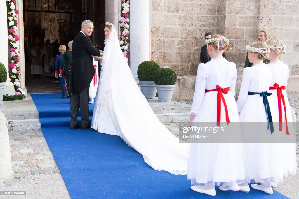 Wedding of Duchess Sophie Of Wurttemberg And Count Maximilian Of Andigne At Tegernsee Castle : News Photo