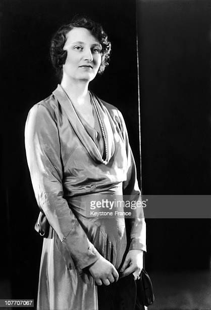 Duchesse Edmee De La Rochefoucauld Between 1930 And 1939