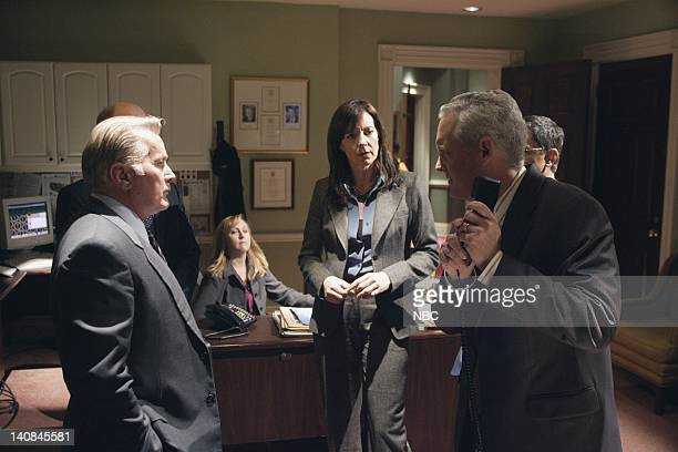 WING 'Duck and Cover' Episode 12 Aired 1/26/06 Pictured Martin Sheen as President Josiah 'Jed' Bartlet Allison Janney as Claudia Jean 'CJ' Cregg...